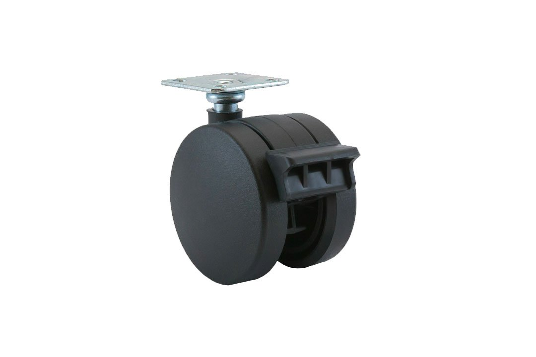 Plastiglide Twin Wheel Casters Non-Hooded